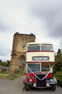 vintage-double-decker-bus-church-