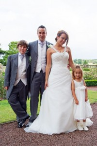 matfen hall wedding photography bride groom and pageboy