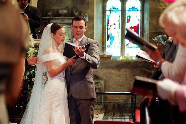 wedding ceremony at felton