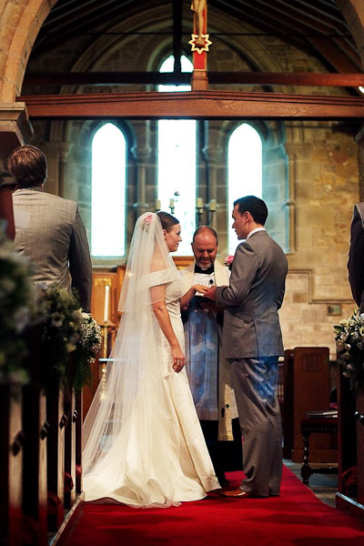 exchanging of rings in wedding ceremony