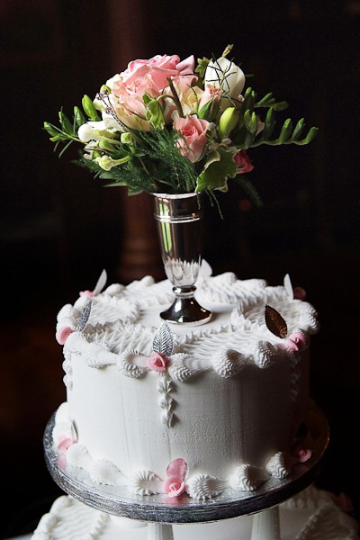 wedding cake topper flowers