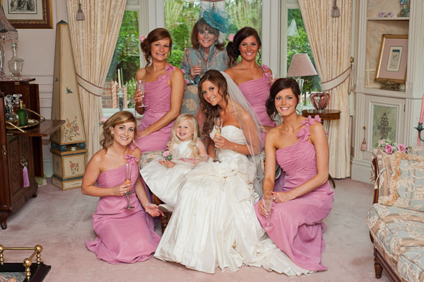 bride and bridesmaids rockliffe wedding