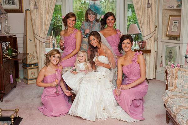 bride and bridesmaids rockliffe wedding