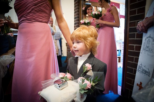 pageboy at church