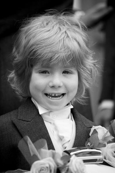 pageboy laughing at church