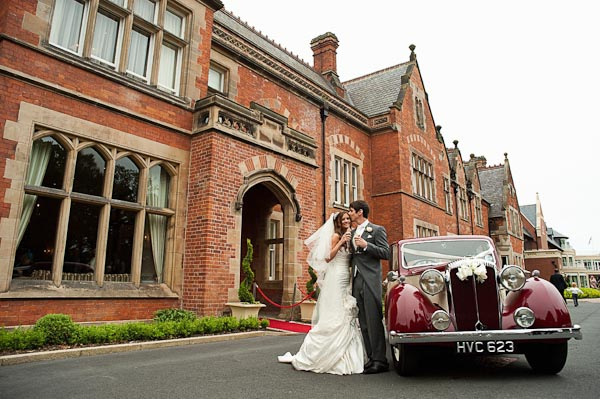 bride and groom rockliffe hall wedding