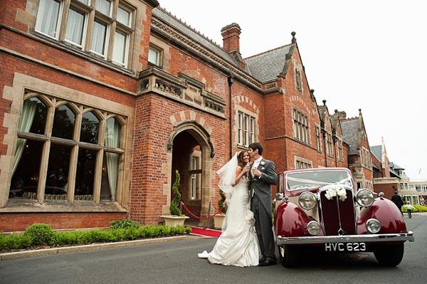 bride and groom rockliffe hall wedding