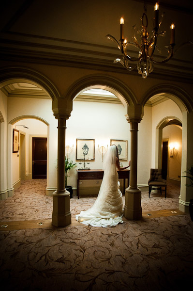 bride at rockliffe hall wedding