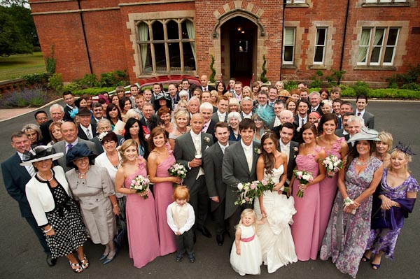 group photograph rockliffe hall wedding