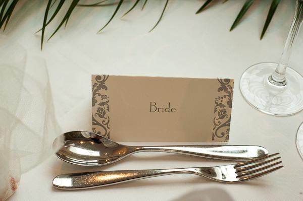 classic wedding name plates