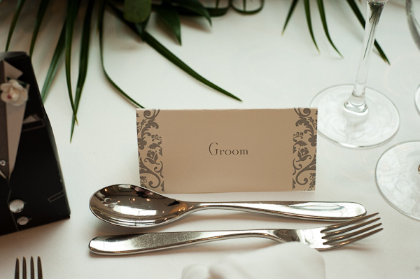 contemporary wedding name plates