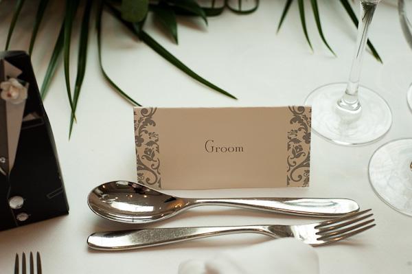 contemporary wedding name plates