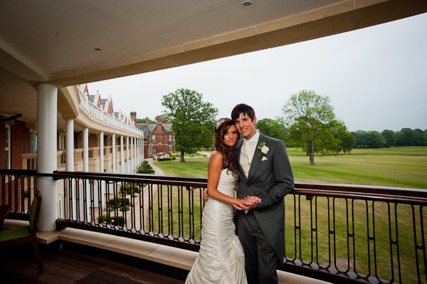 bride and groom at rockliffe hall wedding