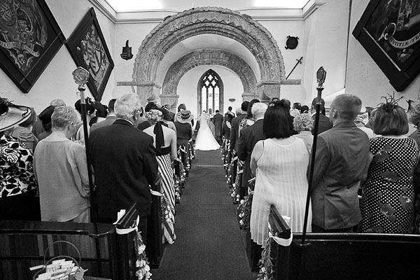 seaton delaval hall wedding ceremony church of our lady
