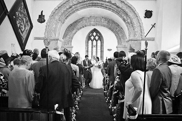 waslking down the aisle