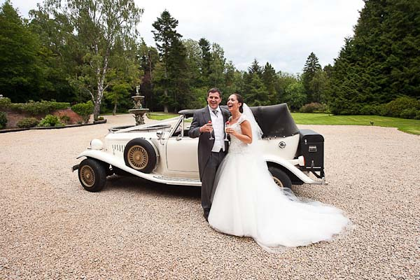 bride and groom at otterburn