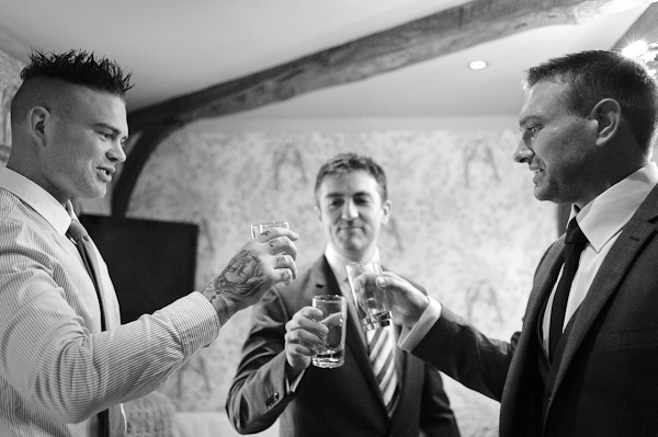 wedding toast at crab and lobster manor hotel