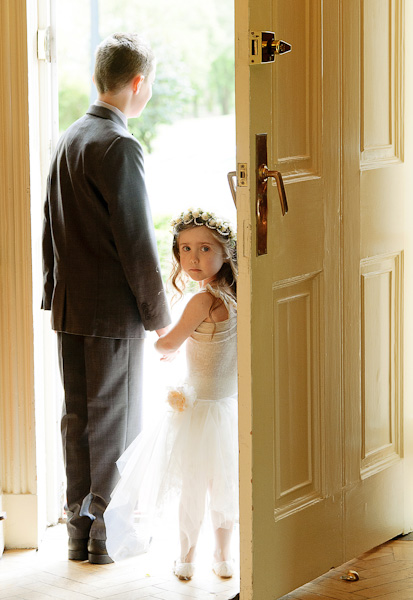 flowergirl and pageboy