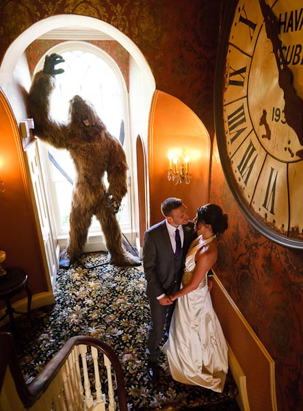 crab and lobster wedding photographer bride and groom with yeti