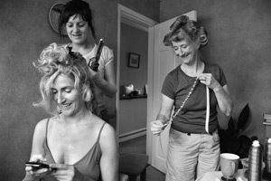 bridal preparations hair curling