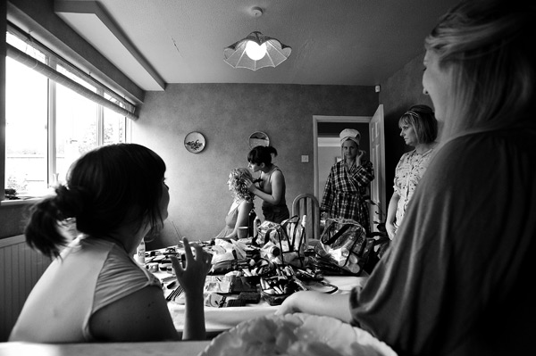 bridal preparations at home