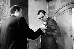 Wynyard Hall Wedding Photography best man in church