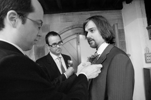 wynyard wedding bishopton church groom with buttonhole