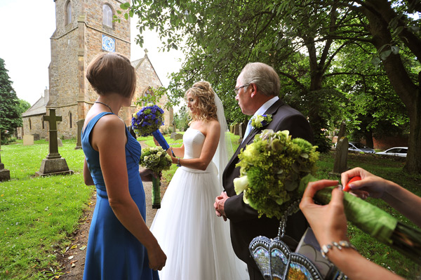 st peter's church wedding bishopton bride outside