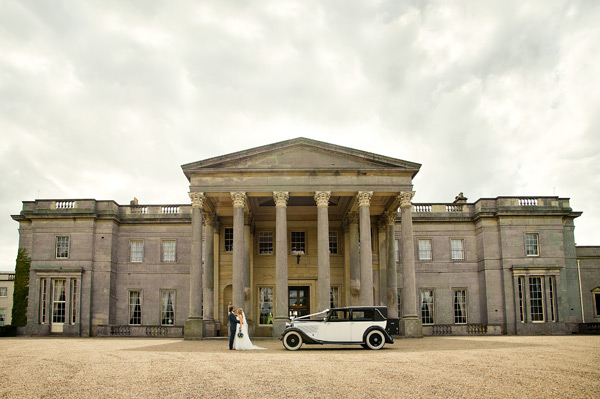 Wynyard Hall Wedding Photography bride and groom in grounds