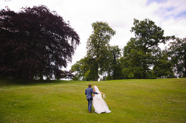 Wynyard Hall Wedding Photography bride and groom together