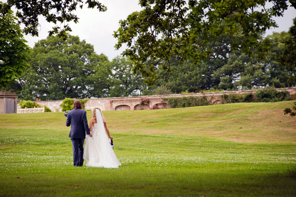 Wynyard Hall Wedding Photography bride and groom holding hands