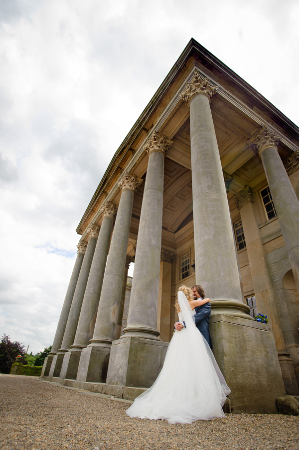 Wynyard Hall Wedding Photography bride and groom together at wynyard