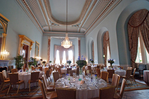 Wynyard Hall Wedding room set up