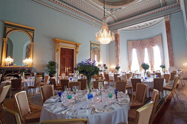 Wynyard Hall Wedding breakfast room