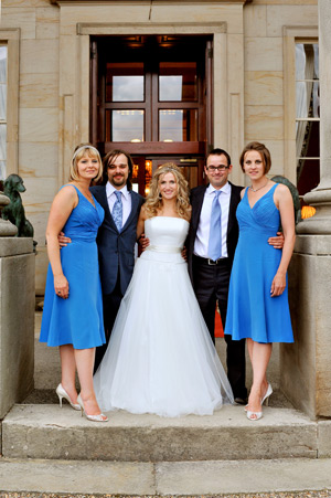 wynyard hall wedding photographer bridal party photo