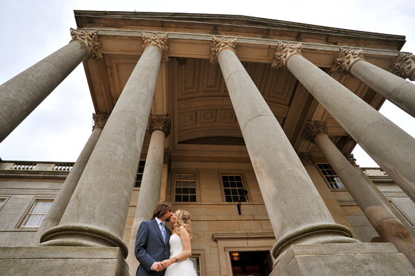wynyard hall wedding photographer bride and groom at wynyard