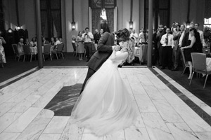wynyard hall wedding photographer bride and groom first dance