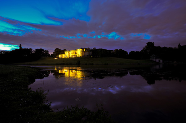 wynyard hall wedding venue at night