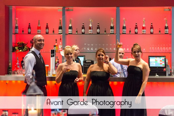 bridesmaids at evening reception at alnwick castle