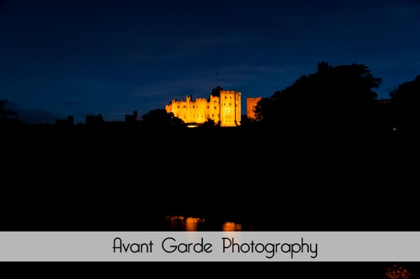 alnwick castle at night